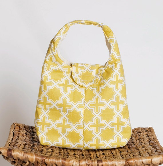 Insulated Lunch Bag Eco Friendly - Joel Dewberry Nap Sak In Sunglow