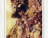 Polaroid SX 70 Matted Photo Art Card of the Old Man in The Mountain NH