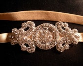 Bridal Crystal Stretch Satin Headband