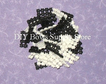 25 White &/or Black No Slip Grip Liners for Hair Bows Clippies