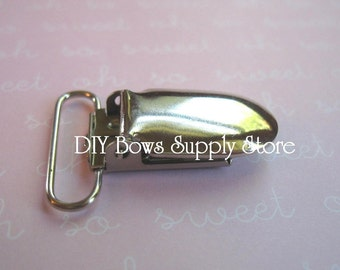 "100 Metal Pacifier Clips - 1"" or 2.5 cm Suspender / Pacifier / Bib Holder"