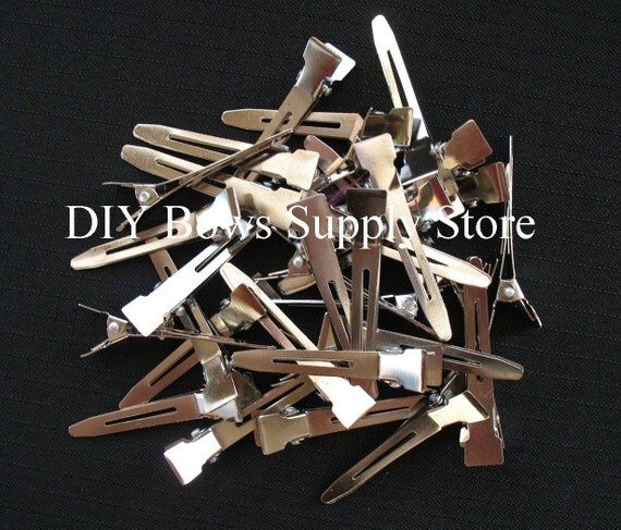 20 PINCH ALLIGATOR Clips Single prong for Hair Bows and Clippies