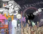 Alice in Manhattanland Collage