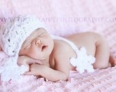 Let it Snow Newborn Baby Girl Beanie Winter Hat  - Great Photo Prop