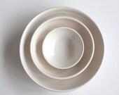 Nesting Bowl Trio in White