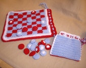 SALE-Checkers and Tic Tac Toe Games in a Bag
