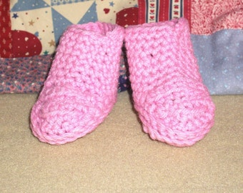 SALE-Rose Colored Booties