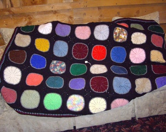 SALE-MM--Circles of Color Afghan