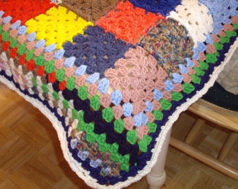 SALE-Multi-colored Lap Afghan