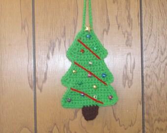 SALE-Crocheted Christmas Tree Ornament
