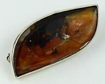 PIMP YOUR HAT... Mark Garbarini Sterling Silver Dendritic Quartz Pin