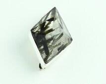 PIMP YOUR HAT... Mark Garbarini Geometric Sterling Silver Epidote Pin