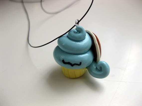 Squirtle Cupcake Pendant