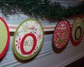 Christmas Banner, Holiday Banner, Ho Ho Ho Banner - Perfect for Christmas, Winter Holidays