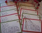 Christmas Tags, Holiday Gift Tags, Christmas Gift tags - Set of 10