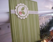Set of 6 Holiday berry thank you cards in a decorative box-designer papers vary