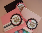 Owl Valentine Cards, Owl Treat Valentines, Whoo loves you - Set of 6