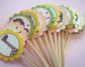 Jungle Cupcake Toppers - perfect for birthdays & baby showers - set of 12
