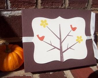 Monogram Stationery, Monogram Notecards, Fall Stationery, Fall Cards - in a decorative handmade box