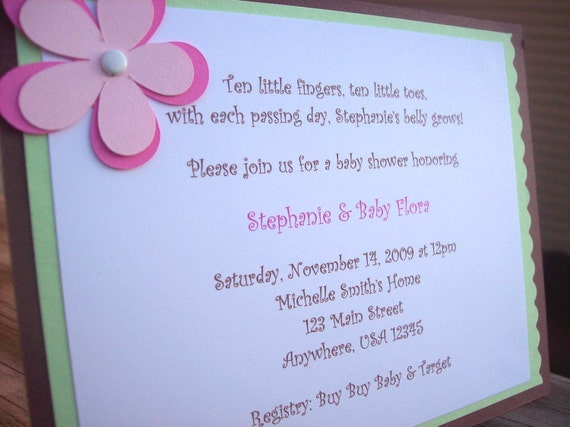 Baby Shower Invitations or Baby Announcements - Set of 8