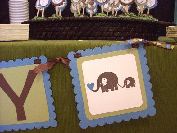 Elephant Baby Shower Banner