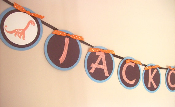 Dinosaur Banner - Perfect for birthdays and baby showers
