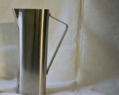 Vintage Lundtofte Danish Modern Pitcher Stainless Steel Holiday Cocktails Christmas Bar Ware