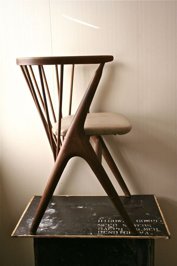 Vintage Wooden Danish Modern Childs Chair - Sibast Mobler