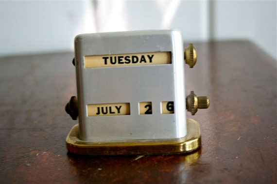 Vintage Perpetual Calendar - Midcentury