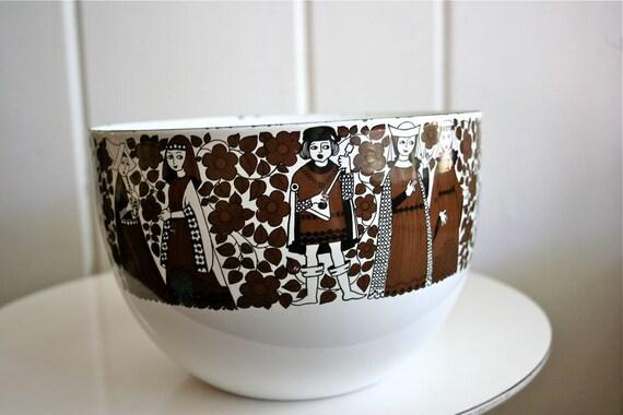 Vintage Arabia Finel Finland Bowl Kaj Franck Medieval Mod Raija Uosikkinen