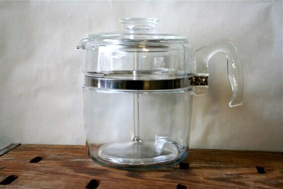 Pyrex Flameware Coffee Pot Glass Vintage 9 Cup SALE
