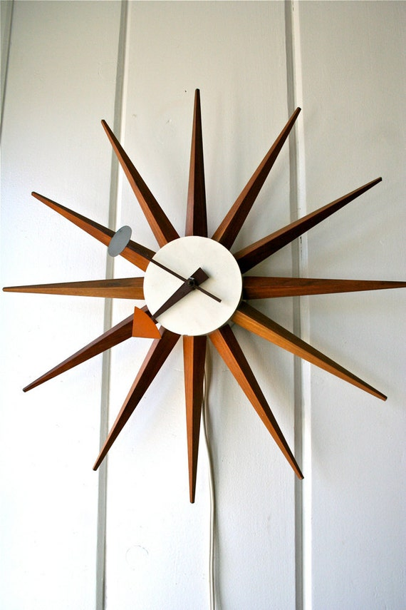 RESERVED for Michael Templeman George Nelson Vintage Spike Clock Starburst Sunburst Howard Miller