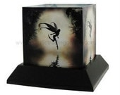 Moonlit Water Fairy Candle Hurricane Holder by Julie Fain