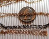9 ft Raw Brass Diamond Cut Cable Chain