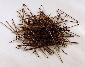 Solid Brass Head Pins Antiqued 1.75 inch 22mm