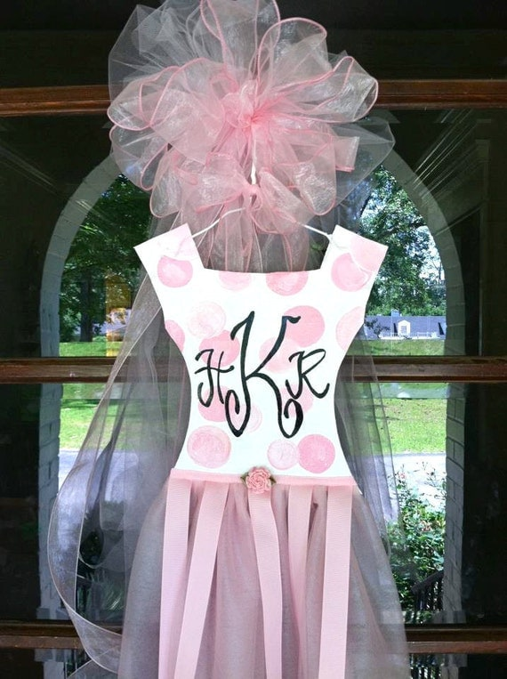 Personalized Baby Girl Door Hanger - Bronwyn Hanahan Art
