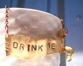 Drink Me Alice in Wonderland Banner Necklace