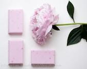 Peony soap - shea butter soap - SHOP CLOSING SALE