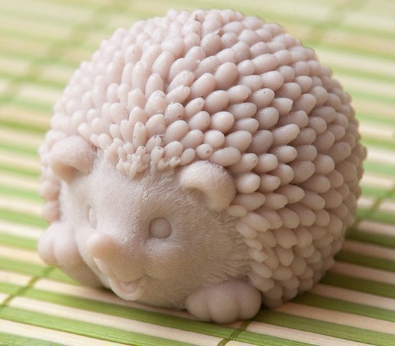 Hedgehog soap - pictured color, Pear scented - OOPS SALE