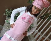 Personalized Embroidered Child's Apron and Chef hat set