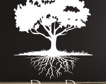 SALE. 50% OFF. 1 Day Only. Use Coupon Code CYBER50 Huge 6 Foot Tree With Roots Wall Decal