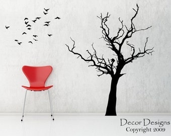 Bare Tree Vinyl Wall Decal Sticker