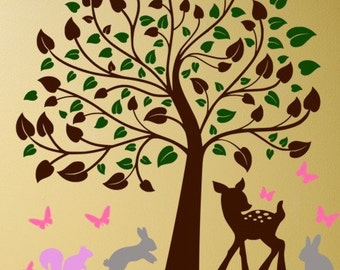 Blowing Blossom Tree In The Wind Vinyl Wall By