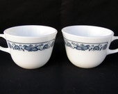 Vintage Set of Two Pyrex Old Town Cups