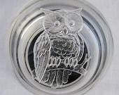 Vintage Owl Lidded Jewelry Keeper