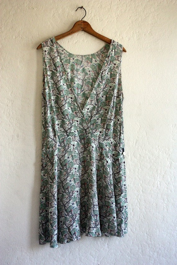 On Hold for Beth Enright 1920's Jungle Print Dress