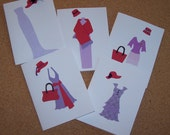 Red Hat Society Note Cards set of 5