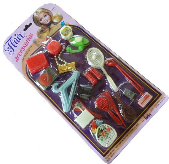 Flair Barbie Accessories from 1982 - Made in the USA