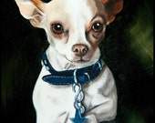 Custom Hand Painted Pet Portrait 8 x 10