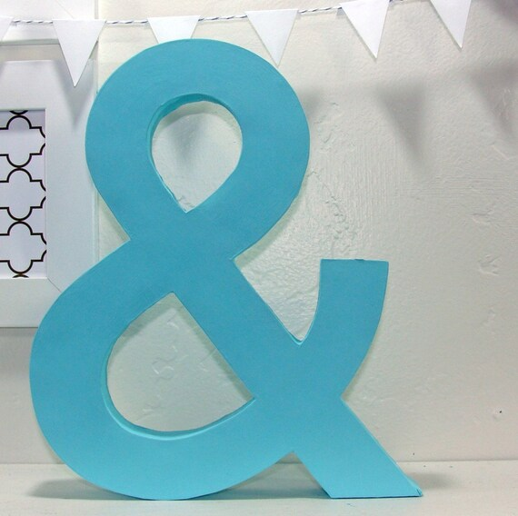Decorative ampersand by tuckerreece on etsy for Ampersand decoration etsy